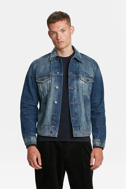 VESTE DENIM TRUCKER HOMME Bleu