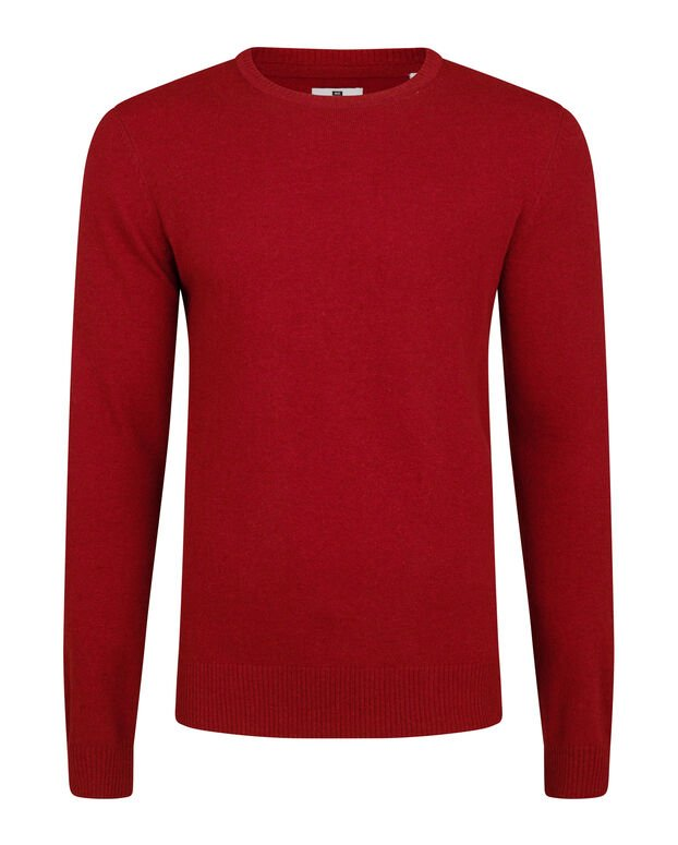 PULL LAMBSWOOL HOMME Rouge