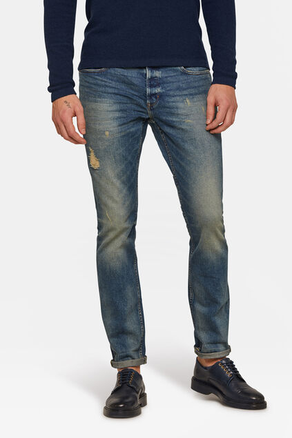 Jeans slim tapered homme Bleu