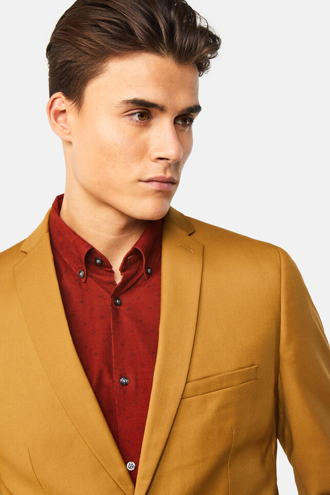Blazer slim fit Dali homme Jaune moutarde