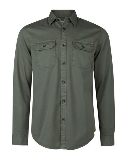 CHEMISE RELAXED FIT HOMME Vert gris