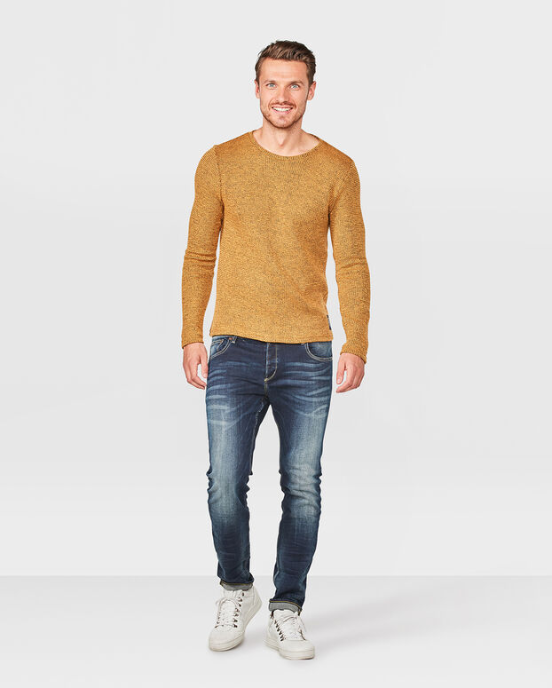 SWEATER STRUCTURE HOMME Jaune moutarde