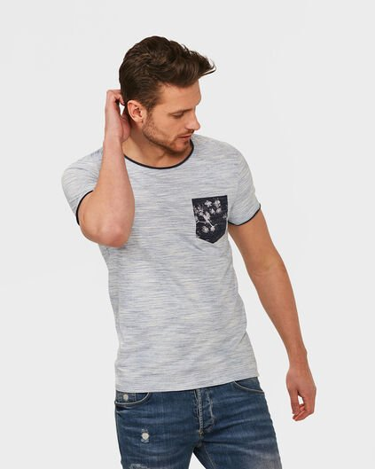 T-SHIRT ONE POCKET MELANGE HOMME Blanc cassé