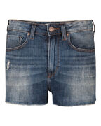 SHORT HIGH RISE SLIM DENIM FEMME_SHORT HIGH RISE SLIM DENIM FEMME, Bleu