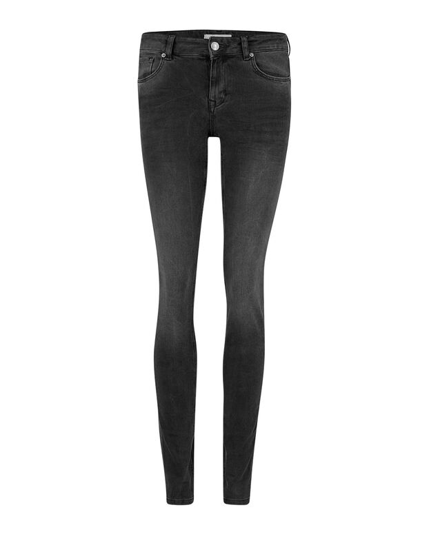 JEANS MID RISE SKINNY 360° STRETCH FEMME Noir