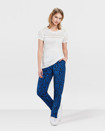 PANTALON DE JOGGING TAPERED SLIM FIT STRIPE PRINT FEMME Bleu de cobalt