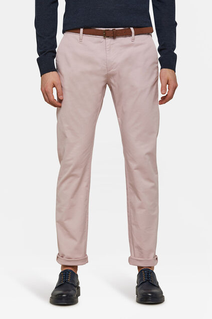 Chino skinny fit homme Vieux rose