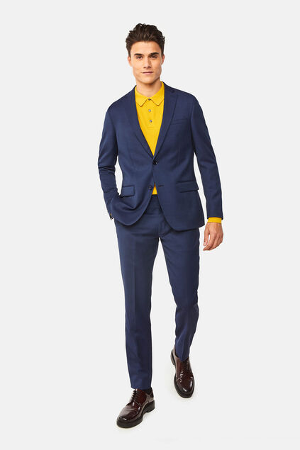 Costume regular fit à fine structure Tom homme
