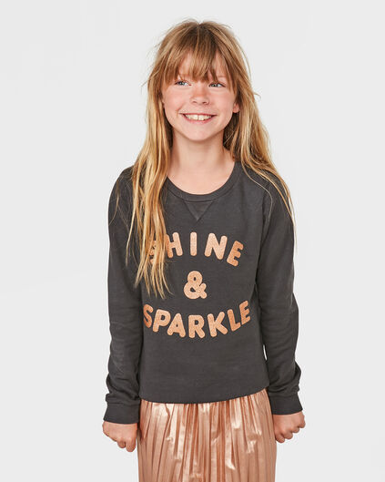 SWEATER SHINE & SPARKLE FILLE Brun foncé