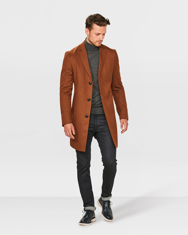 MANTEAU SLIM FIT HOMME Brun rouille