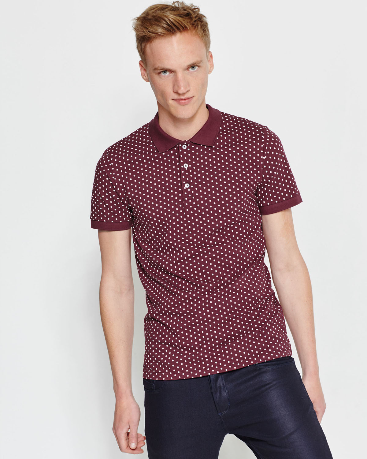 T SHIRT POLO À POIS HOMME | 78942219 WE Fashion