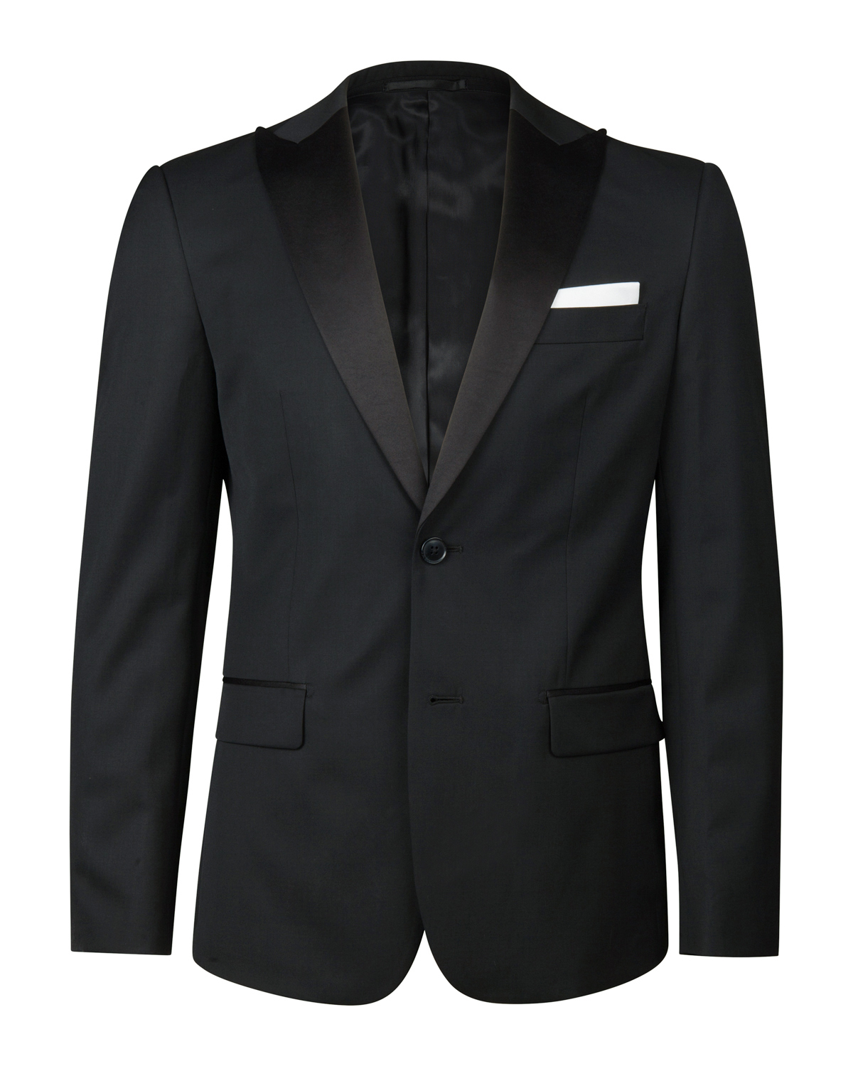 BLAZER SLIM FIT HOMME_BLAZER SLIM FIT HOMME, Noir