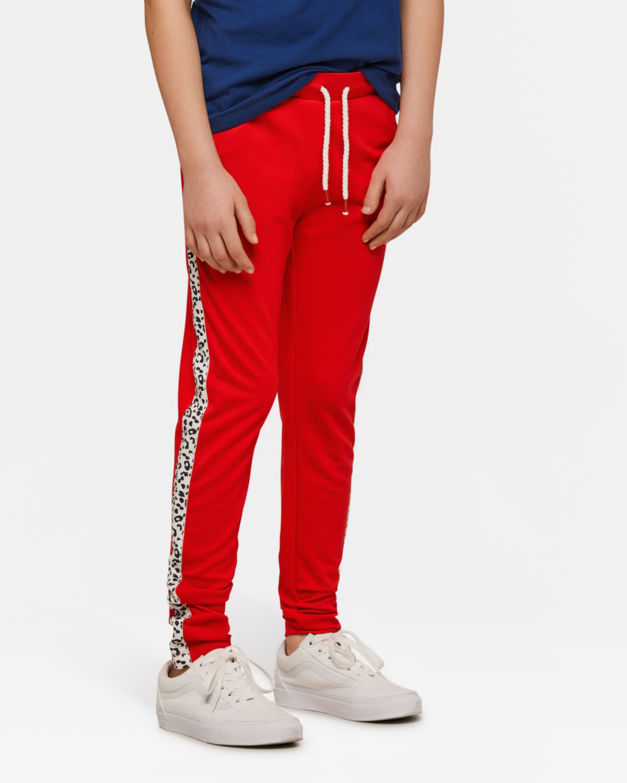 Pantalon de jogging sporty stripe fille Rouge ... ae89a4b97d6