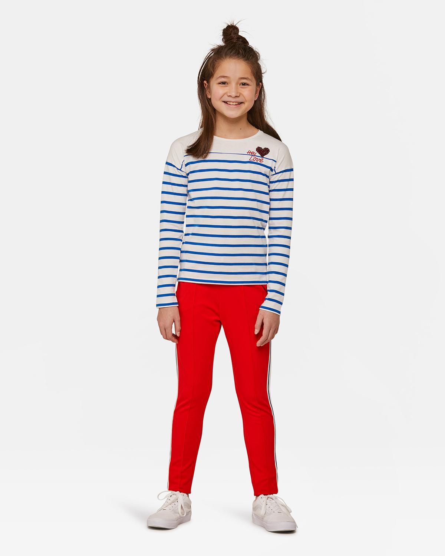 ... Pantalon de jogging sporty stripe fille Rouge vif ... d9de70346f3