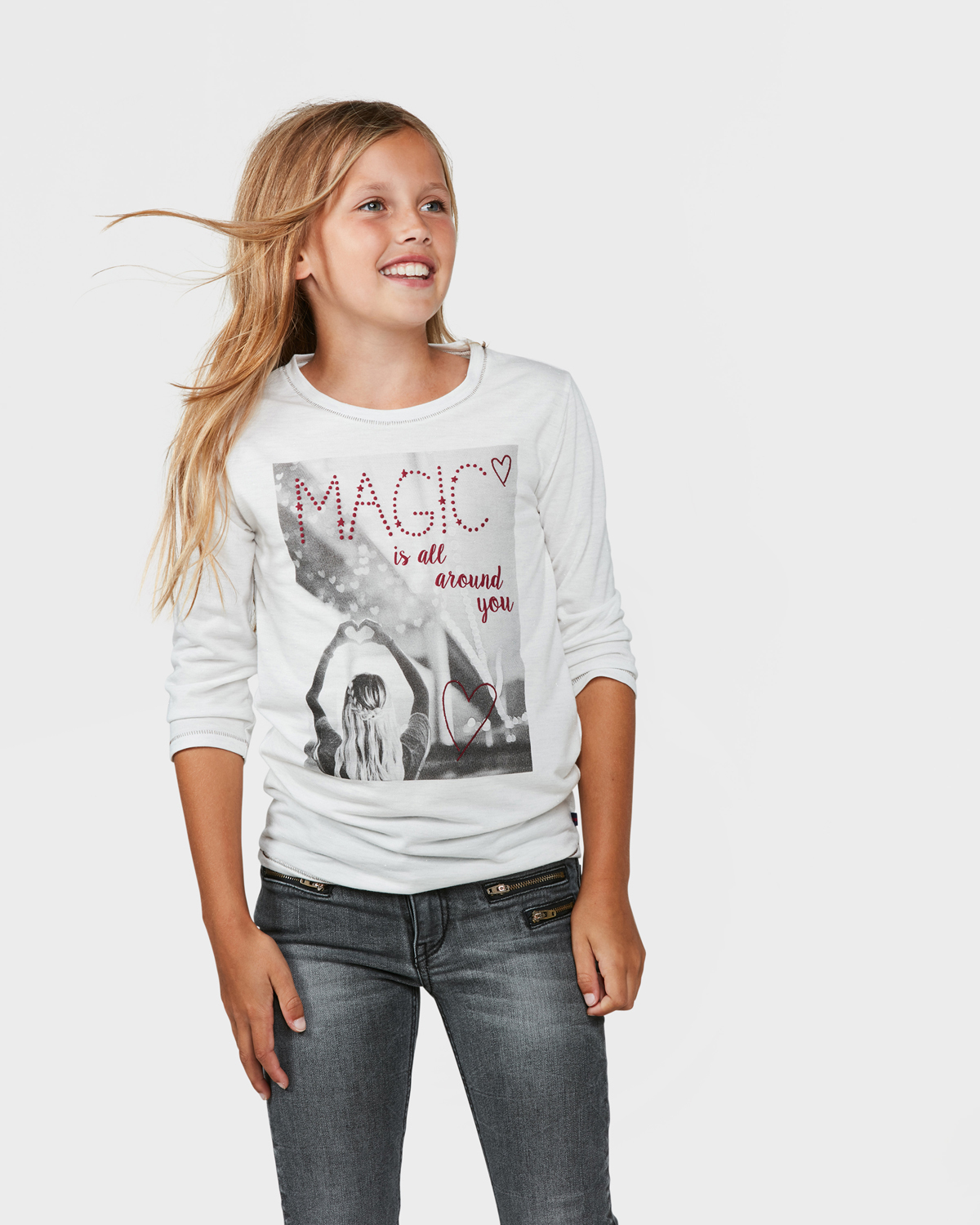 T shirt glitter text fille 79514637 we fashion for Photo t shirts with text