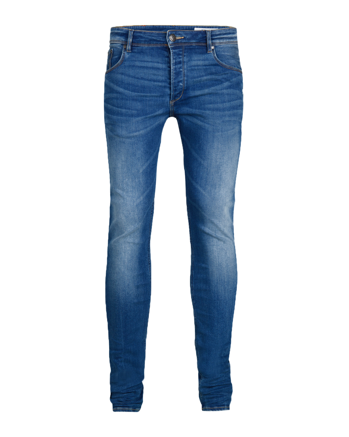 JEANS SKINNY TAPERED SUPER STRETCH HOMME_JEANS SKINNY TAPERED SUPER STRETCH HOMME, Bleu foncé