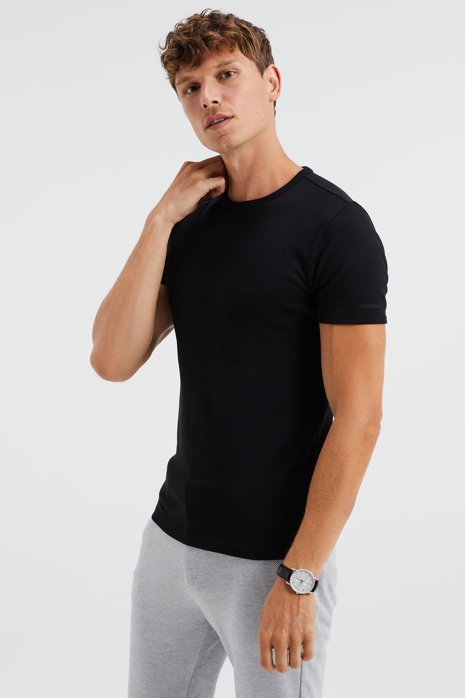 T shirt organic cotton homme 80379096 we fashion for Natural cotton t shirts