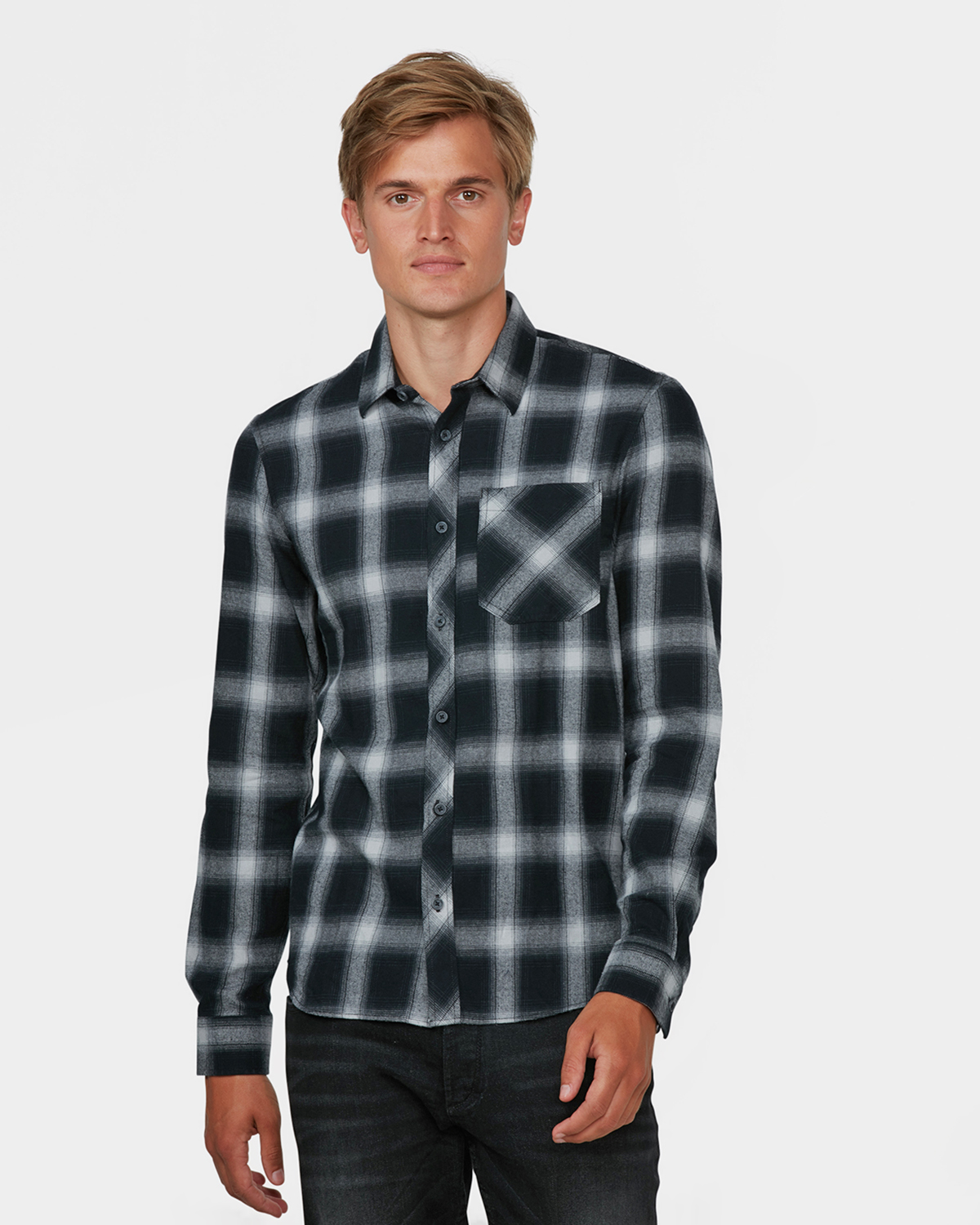 chemise slim fit checked homme 79434782 we fashion. Black Bedroom Furniture Sets. Home Design Ideas