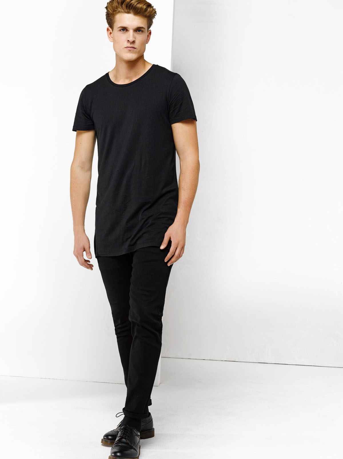 t shirt homme extra long 78447332 we fashion. Black Bedroom Furniture Sets. Home Design Ideas
