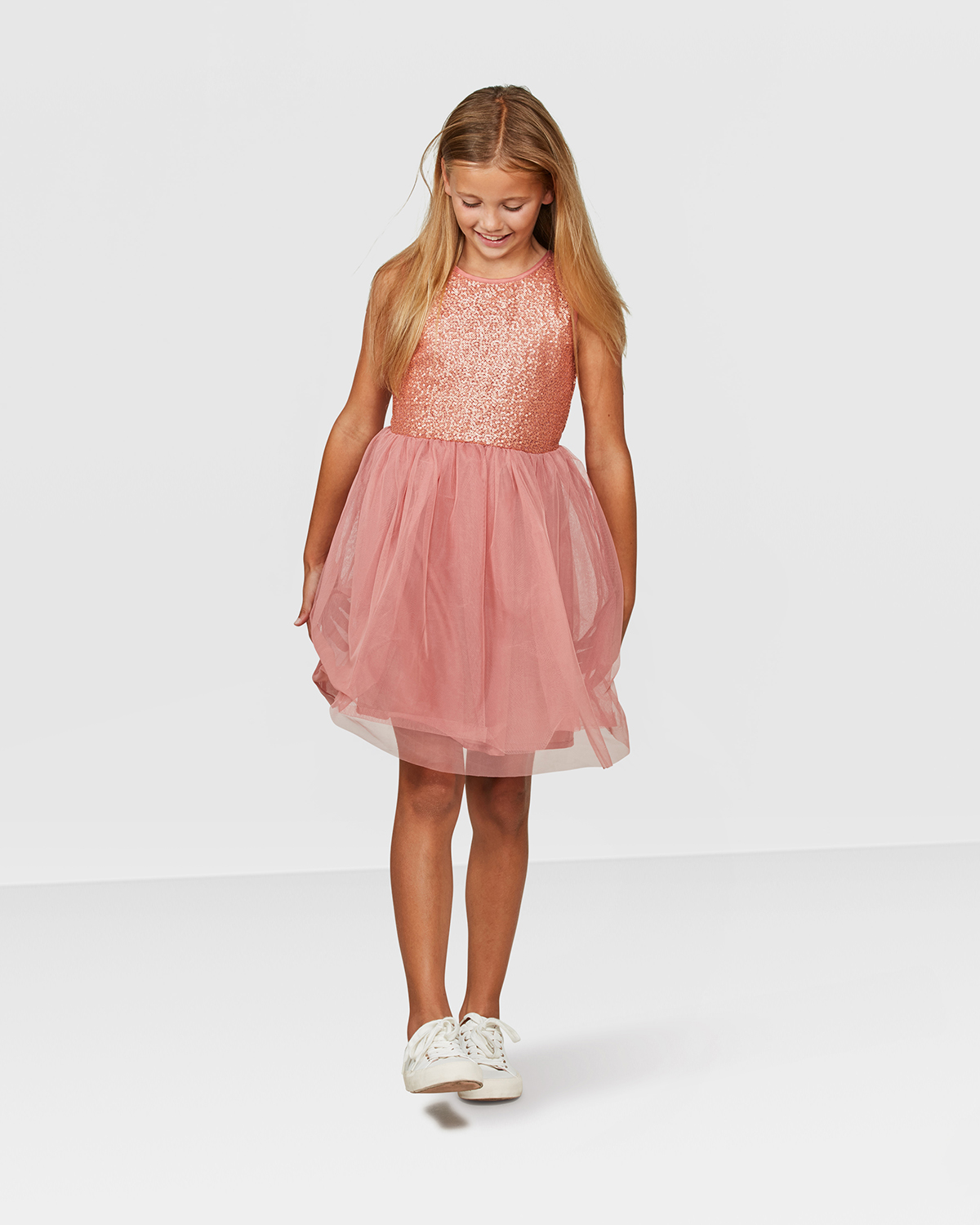 12266721113 ROBE SEQUINS TULLE FILLE Rose ROBE SEQUINS TULLE FILLE Rose