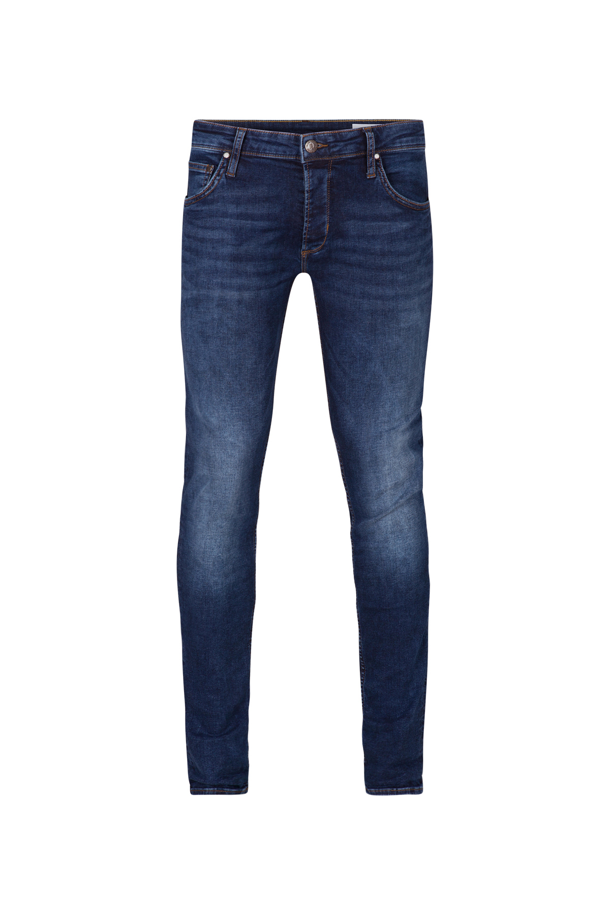 JEANS SLIM TAPERED STRETCH HOMME_JEANS SLIM TAPERED STRETCH HOMME, Bleu foncé