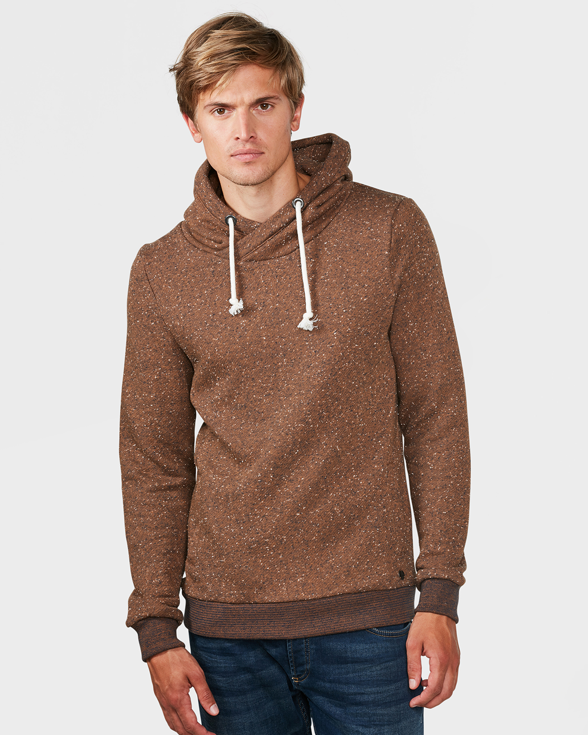 sweat shirt hooded neppy structure homme 79507974 we. Black Bedroom Furniture Sets. Home Design Ideas