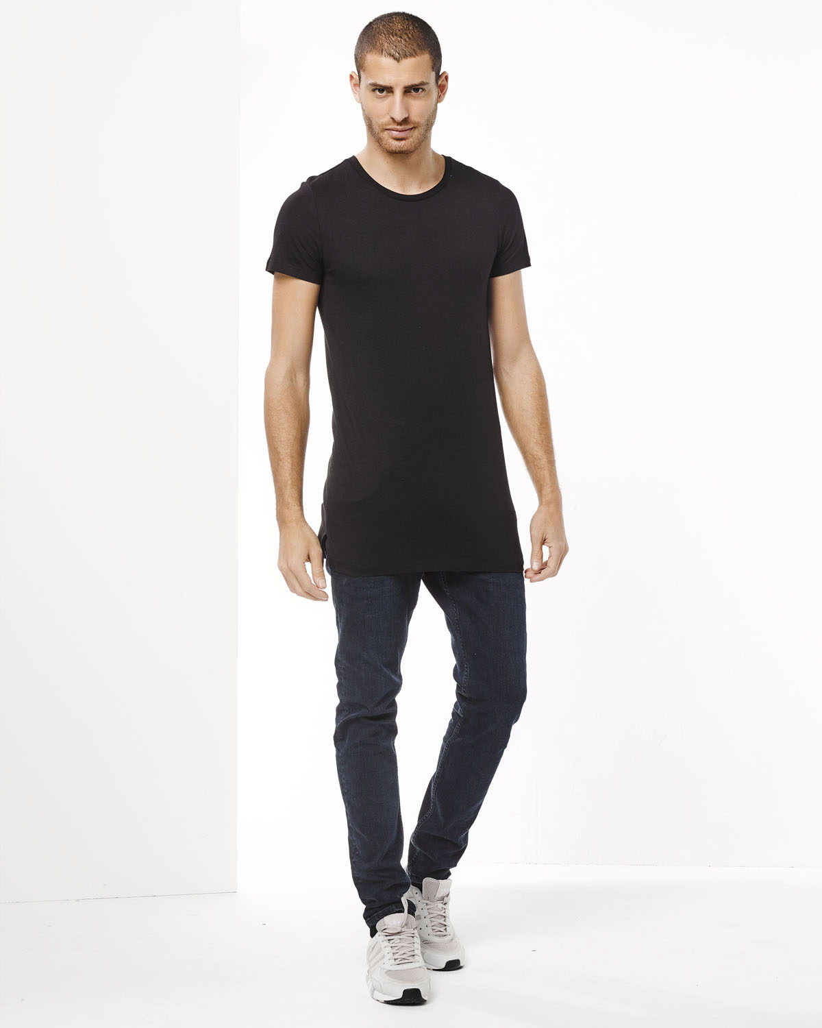 long fit t shirt homme 78666283 we fashion. Black Bedroom Furniture Sets. Home Design Ideas