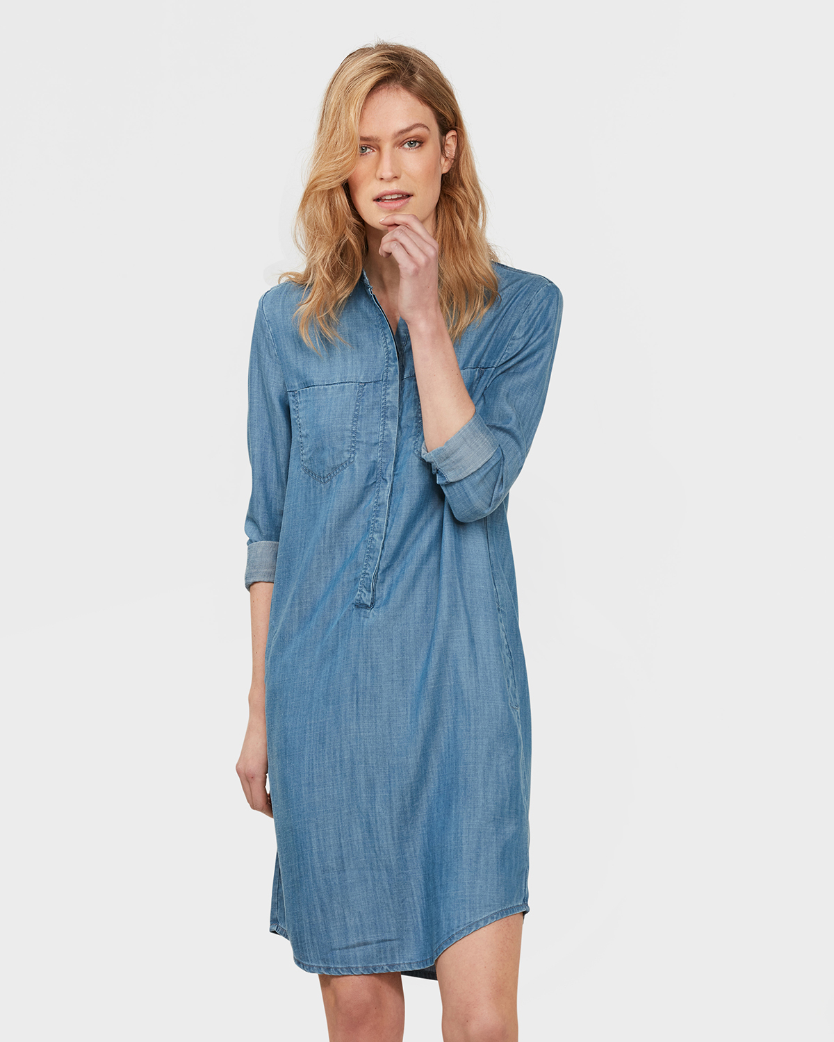 79661775 Robe Chemisier We Femme Denim Fashion qttRwrp