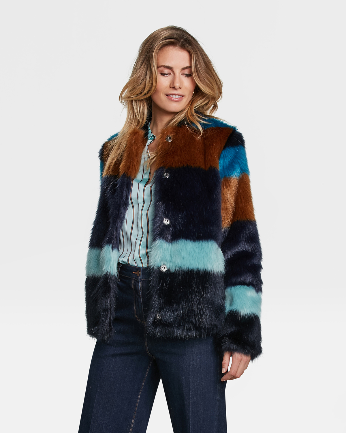 MANTEAU FAUSSE FOURRURE FEMME | 85446175 WE Fashion