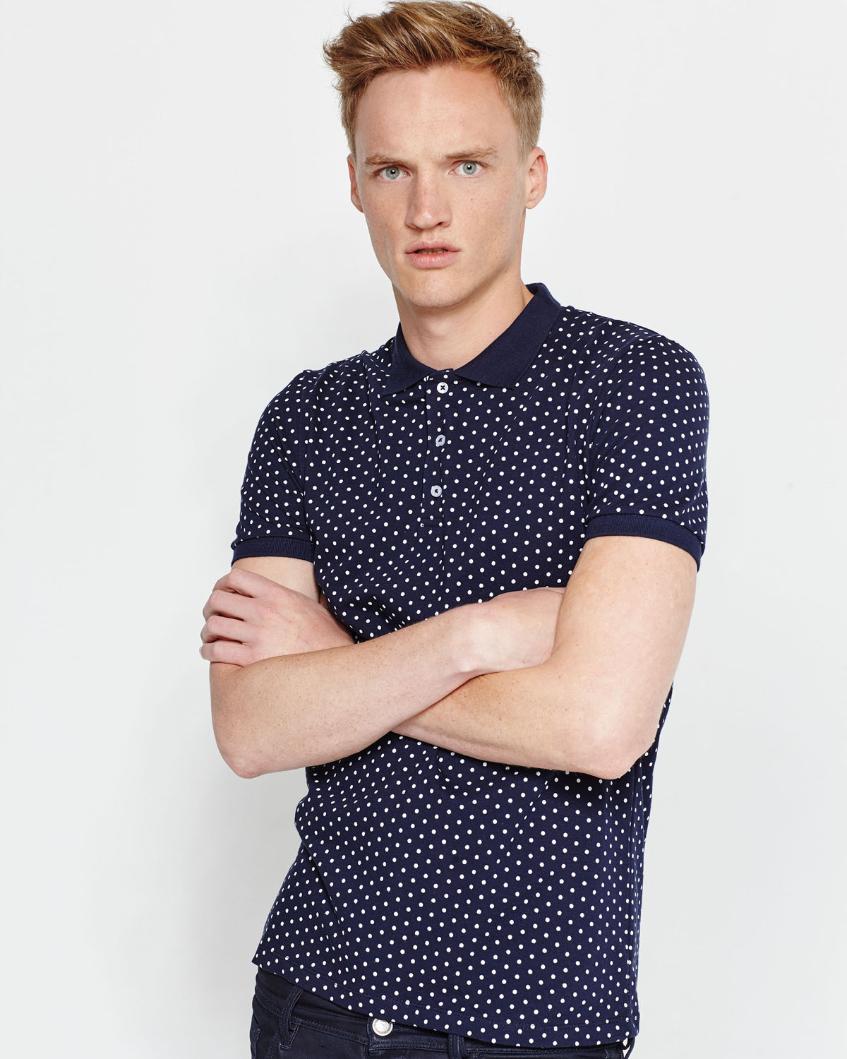 T SHIRT POLO À POIS HOMME | 78942288 WE Fashion